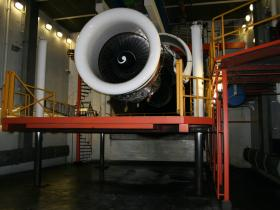 Hydraulische lift in testkamer